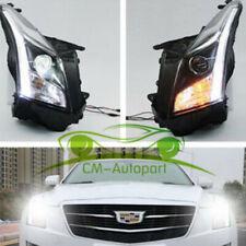 HID Headlights High Beam LED DRL Bi-xenon Projector Fit 2013-2016 Cadillac ATS