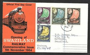 Swaziland - 1964 Opening of Swaziland Railway first day cover.