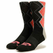 NIKE SB Dri-FIT Argyle Skate Crew Socks sz L Large (8-12) Black Grey Infrared
