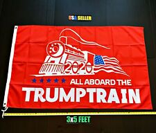 New listing Donald Trump 2020 Flag Free First Class Ship Trump Train Red Usa New One Sided