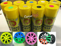 Rubber Paint Spray Film Removable Black Blue Red Green White Orange Gold Pink