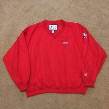 Vintage 90s Chicago Bulls Pullover Jacket XL Logo Athletic NBA Palace Jordan