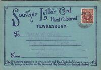 GB KGV 1936 Tewkesbury Letter Card - 6 Colour Photos Postal History J5486