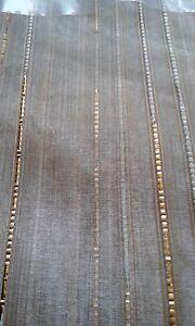 Gardine  Vorhang Höhe 145cm  breite  450cm  Store Gold