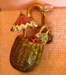 JUICY COUTURE PINEAPPLE DRINK CHARM (RARE) NWT