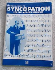 Ted Reed Progressive Steps Syncopation Modern Drummer Unmarked
