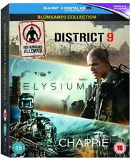 CHAPPIE/DISTRICT 9/ELYSIUM Blu-Ray NEUF (sbrp9579uv)