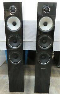 Pair of Bowers & Wilkins 704 S2 Floor-standing speakers Gloss Black (2 Speakers)