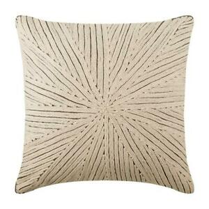 16x16 inch Decorative Couch Cushion Cover Ivory Linen, Jute - Ivory Loom