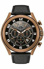 Harley-Davidson Men's Six-Hand Chronograph Watch, Amber Plated Finish 78B148