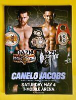 Canelo Alvarez vs Jacobs Boxing Program New-Mint Official On-Site Boxing Program