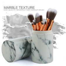 10x marble makeup brushes set foundation powder tools with holder Taa