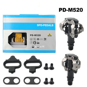 Cycling PD-M520 SPD MTB Mountain Bike pedal Clipless Cycling Pedals + Cleats NIB