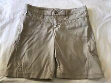 EUC Athleta Tan Khaki Hiking Shorts Size 8 With 5 Pockets