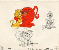 Bad Cat Original Production Model Cel from Ruby Spears 1984 Cartoon