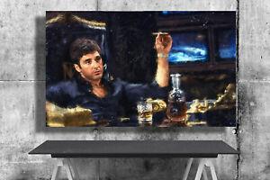 Scarface, Tony Montana, Al Pacino, Print, Poster, Art, Watercolor, Painting,