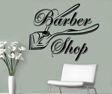 Barbershop Wall Vinyl Decal Hair Salon Emblem Vinyl Sticker Window Stickers (15)