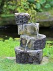 Garden Water Feature Fountain Led Lights Indoor Outdoor Statues Ornament Cascade