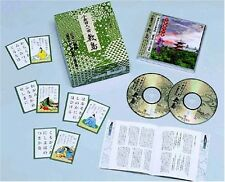 Hyakunin Isshu Karuta Shikishima with 2CD Japanese Card Game Traditional