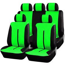 Auto Sitzbezug Sitzbezüge Schonbezug Komplettset grün/Schwarz AS7288gn
