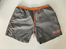 Hugo Boss Starfish Swimming Shorts, Size XL, Grey Orange, VGC