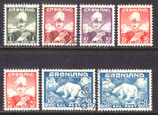 GREENLAND #1-8, 1938-46 SET/8,  F-VF, USED