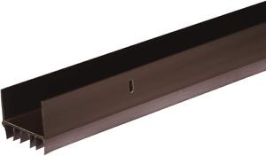 Door Bottom Seal Gap Sweep Wide Vinyl U-Shaped Brown Weather Protection 36 In