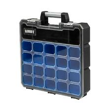 Small Parts Organizer & Tool Box, 9 Deep Removable Compartments, Black & Blue