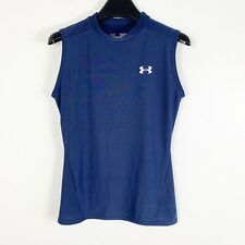 Under Armour Youth Boys Fitted Sleeveless Heatgear Compression Top Sz Large Blue