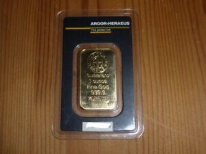 Goldbarren 1oz Von ARGOR HERAEUS Switzerland