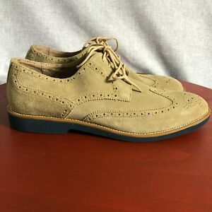 Joseph Abboud Collection Men's Size 13M Shoes Brown Suede Lace Up Brogue Oxfords