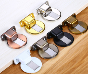Premium Magnetic 304 Stainless Steel Door Stop Stopper Holder Catch 3M Adhesive
