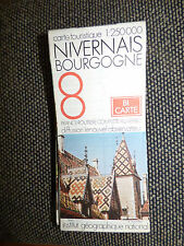 Carte IGN 1:250000  bourgogne nivernais    n° 8 Bi Carte 1976