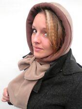 Ladies hat Scarf-hat Brown/Beige Hooded scarf Women''s hats Women's