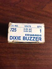 Edwards Dixie Buzzer #725 6-8V AC 3-6V DC