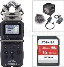 Zoom H5 Recorder + APH-5 Zubehör SET + 16 + 2 GB SD Card + Windschutz + Batterie