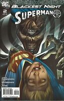 Superman Comic Issue 2 Blackest Night Modern Age First Print 2009 Robinson Jose