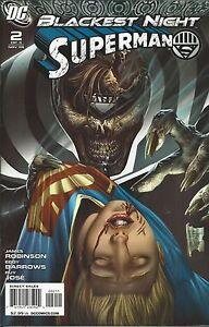 Superman Comic 2 Blackest Night Cover A First Print 2009 James Robinson Jose DC