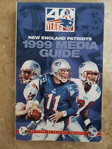 New England Patriot's 1999 NFL Football Media Guide Drew Bledsoe