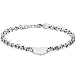 Sterling Silver Ladies Heart Bracelet 5.0 Grams Ladies' Bracelet - Gift Boxed