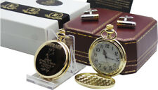 JOHN WAYNE POCKET WATCH Signed Courage Quote Bullet Cufflinks Luxury Gift Set