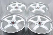 17 white wheels Elantra Miata Sonata Accord Cooper Civic Golf 4x100 4x114.3 Rims