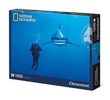 Clementoni National Geographic Puzzle Whitetip Hai 1000 Teile Puzzel Shark NEU