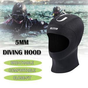 5mm Winter Stretch Hat Neoprene Wetsuit Diving Surfing Kayaking Scuba Hood Cap