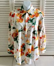 VALENTINO multicolor Printed Shirt 100% Cotton Long Sleeved 15/38 Made in Italy