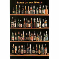 BEERS OF THE WORLD POSTER 24x36 - BAR STYLES TYPES VARIETY BOTTLES 3250