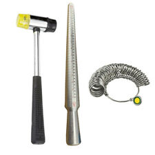 Ring Sizer Guage Mandrel Finger Sizing Measure Hammer Stick Standard Metal Tools