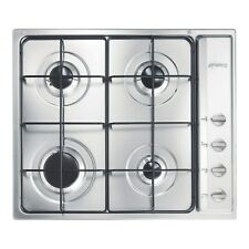 Smeg S64S Built in Cucina Gas Hob 59cm 4 Burner Stainless Steel Cooker