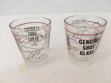 PAIR OF GENUINE SHOT GLASS CLEAR SHOT SHOOTER GLASSES MEASUREMENT INDICATOR