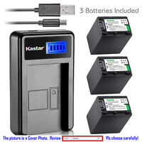 Kastar Battery LCD Charger for Sony NP-FH100 Sony HDR-XR200 HDR-XR500 HDR-XR520